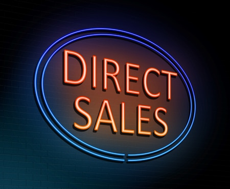 83732510 - 3d illustration depicting an illuminated neon sign with a direct sales concept.