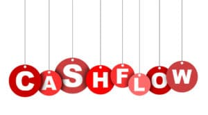 red easy vector illustration isolated circle tag banner cashflow. this element is well adapted for web design.